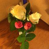 薔薇と一緒に、仕事納め
